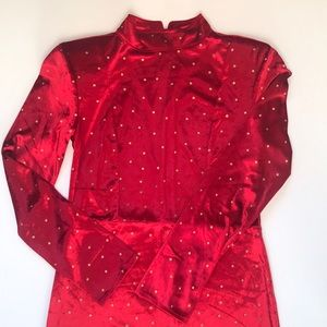NWOT Free People Red Polka Dot Dress